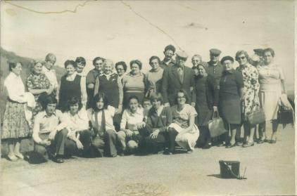 1980 env voyage des jeunes du comité avec le club des Flouretes